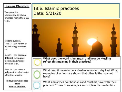 AQA- Religious Studies- Islamic practices