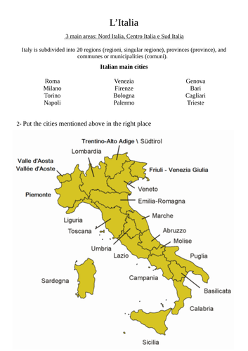 The map of Italy / La mappa dell'Italia