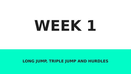 Athletics PE unit - 4 weeks