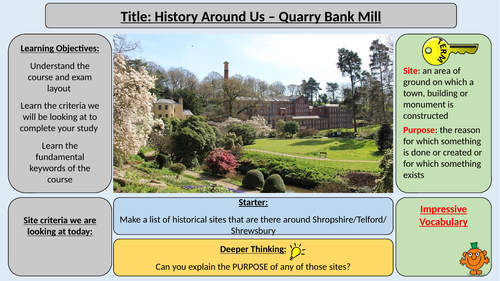 History Around Us - OCR - Quarry Bank Mill