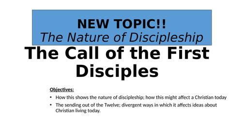 GCSE Marks Gospel - Nature of Discipleship- Call of 1st disciples - Full  Lesson pack