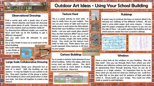 Outdoor Art - Using your school building