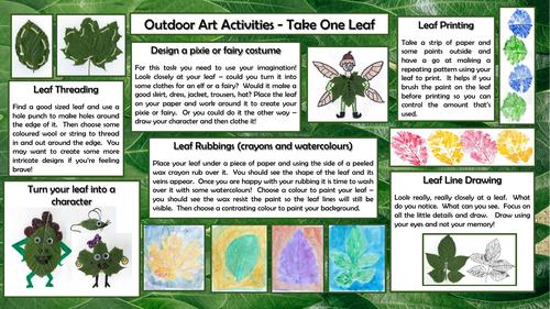 Outdoor Art - Take One Leaf