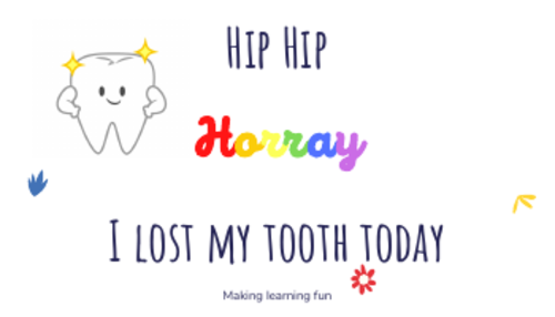 I lost my tooth today card