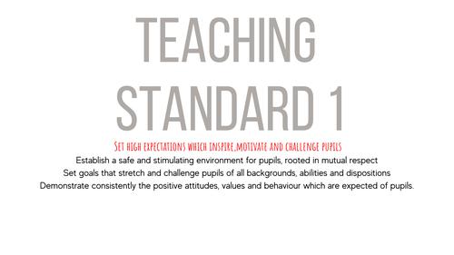 Teacher Standard Folder templates
