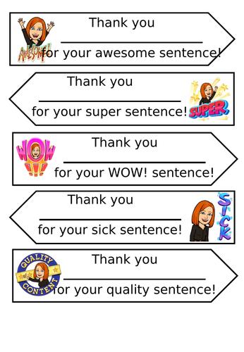 Great Sentence Arrows
