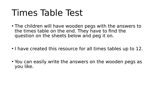 Times Table Test