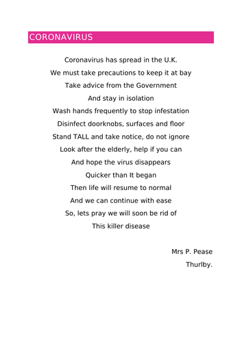 Coronavirus Poem