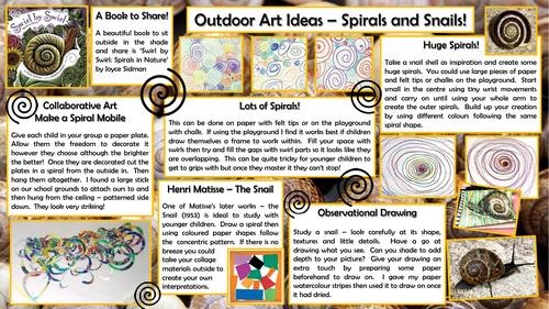Outdoor Art -Spirals and Snails
