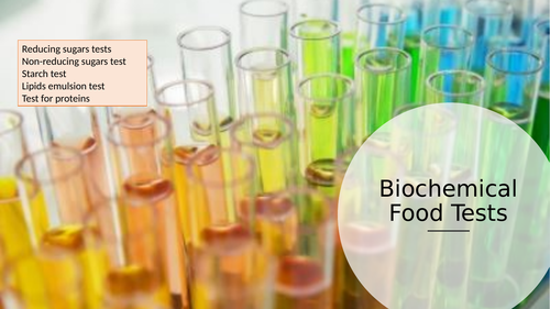 Biochemical Food Tests (AQA A-Level and GCSE)