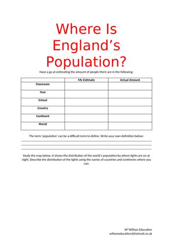 England's Population