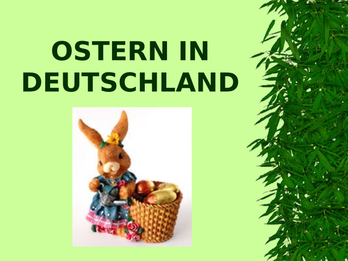 ostern in deutschland  easter in germany  teaching resources