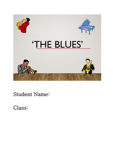 Blues Work Booklet for classes