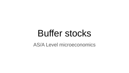 AS/A Level microeconomics Edexcel Buffer Stocks graphs