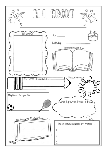 All About ... Worksheet