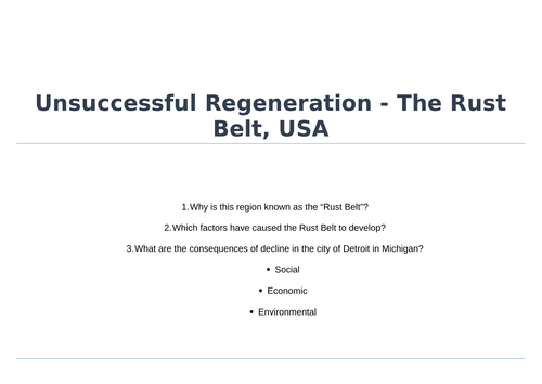 Geography Regeneration Case Study