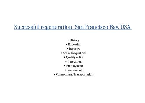 Geography - Regeneration Case Study