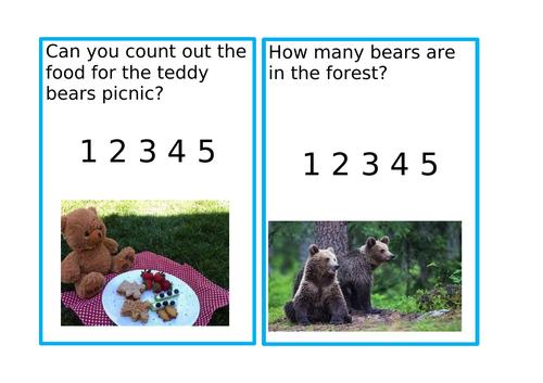 Bear hunt challenge cards
