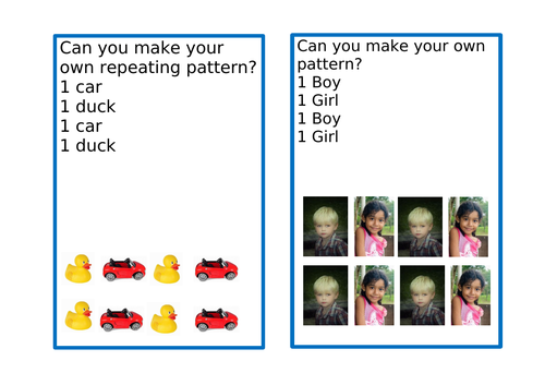 Repeating Patterns EYFS