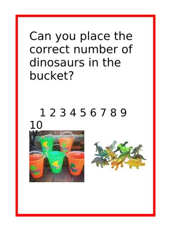 Dinosaur Challenge Cards