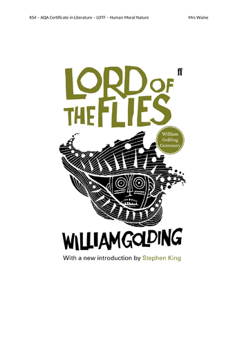 Lord of the Flies - Moral Nature - Revision Pack