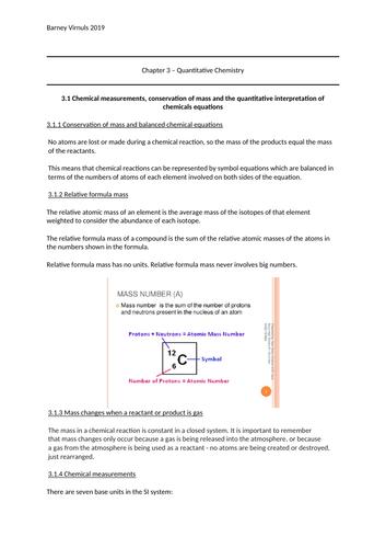 AQA Combined Science Chemistry Unit 3 - Quantitative Chemistry