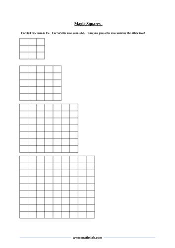 Magic Square - Puzzle (interactive)