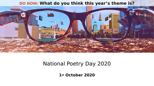 National Poetry Day 2020 - Vision PPT