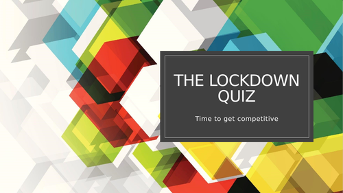The Welcome Back to School Quiz