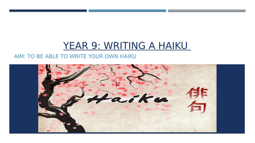 Writing a Haiku