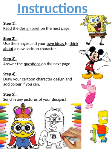 KS3 Short home learning design tasks