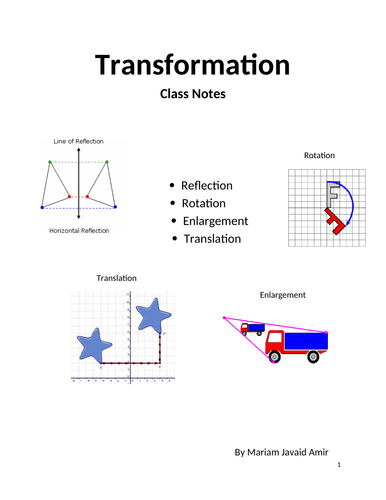 Transformation , IGCSE Mathematics 0580 Past Papers Worksheets with Answers