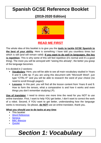 Year 9 Spanish - Remote Work / GCSE Transition Work