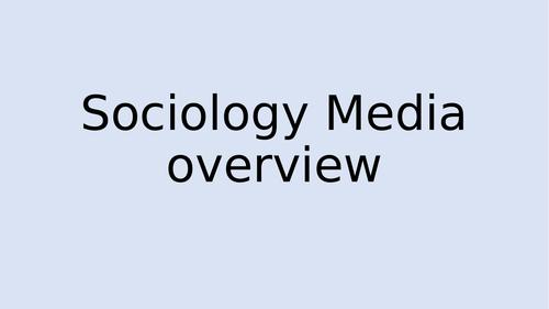 Sociology - Media - AQA - Overview