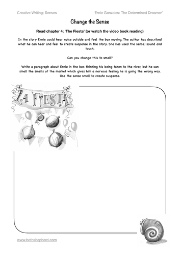 Working with Senses - change the sense. Creative and descriptive writing. key stage 2 english