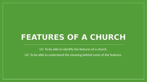 Features of a church