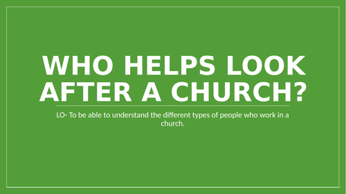 Who looks after our church?