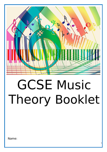 Free GCSE 9-1 Edexcel/ AQA/OCR/Eduqas Music Theory Workbook