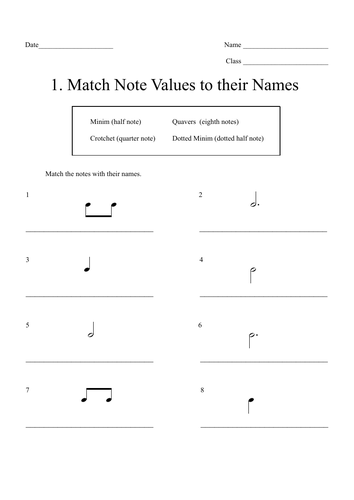 Music Theory: Note Value Drills Worksheet Bundle (13) with Answer Sheets