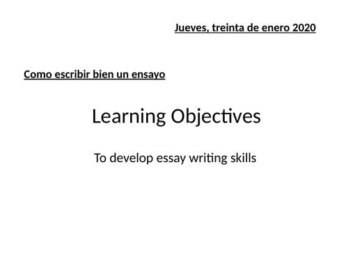 A-Level essay writing skills