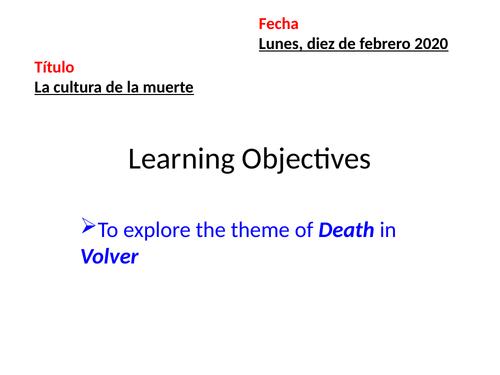 Volver-La cultura de la muerte
