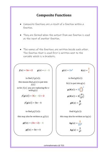 Composite functions handout