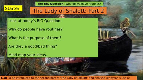 KS3 (7/8/9) The Lady of Shalott Part Two