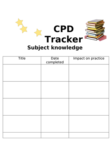 CPD Tracker - Subject Knowledge