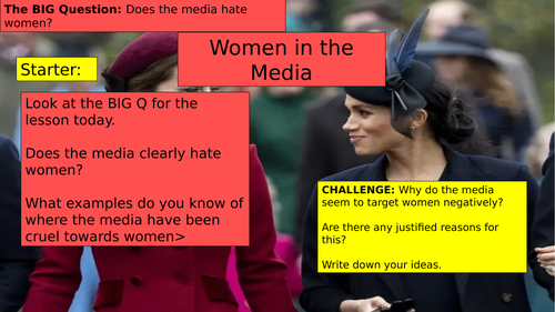 KS3 (7/8/9) Women in the media