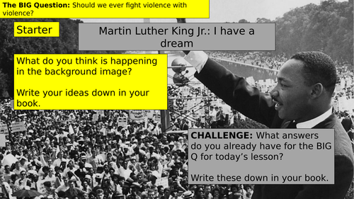 KS3 (7/8/9) Martin Luther King's 'I have a dream' speech