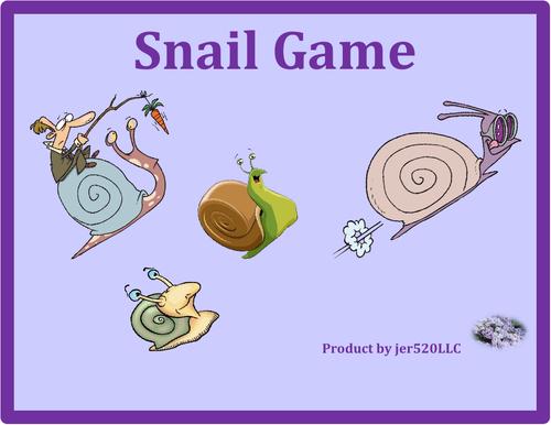 Utensils in English Snail Game