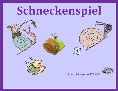 Utensilien (Utensils in German) Schnecke Snail Game