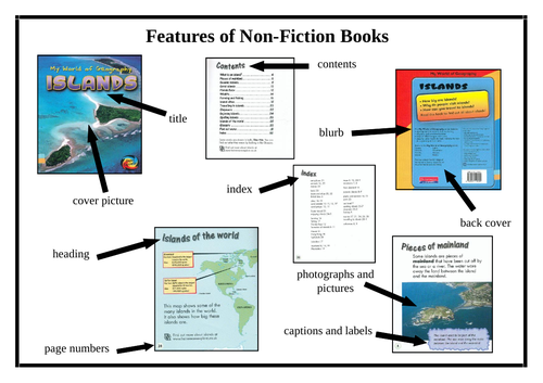 Features of a Non Fiction Text (Activity and Poster)