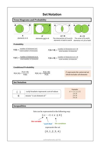 Set notation handout